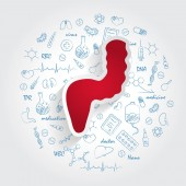 Icons For Medical Specialties Proctology And Rectum Concept Vector Illustration With Hand Drawn Medicine Doodle