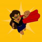 Superhero woman cartoon