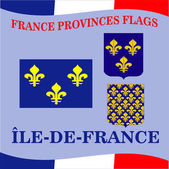 Flag of French province Ile De france