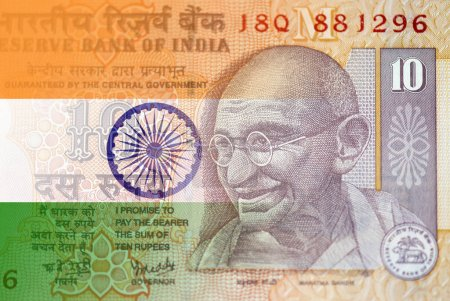 Mahatma Gandhi portrait on Indian