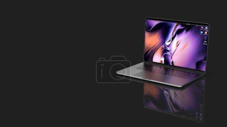 Photo pour Cracovie, Pologne - 16 novembre 2019 : Macbook Pro a new version Os for Mac of the laptop from Apple. - image libre de droit