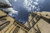 Pohled na staré historické sklepení v Olomouci