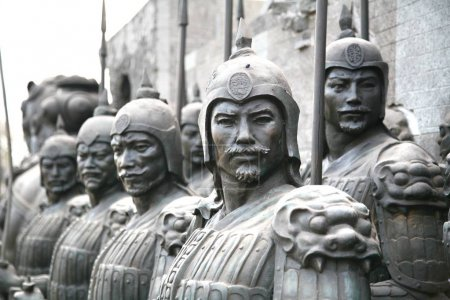 terracotta sculptures depicting the armies of Qin Shi Huang, the first Emperor of China