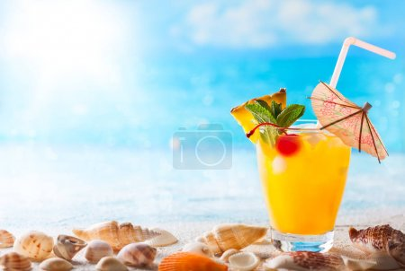 Summer drink on the beach