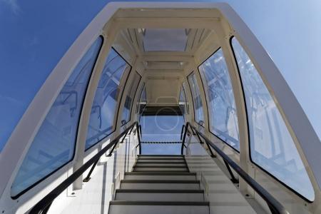 Sky airplane stairs
