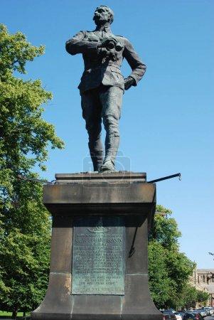 statue In memory of Gallant Soldier Lt. Col. George Elliott Bens