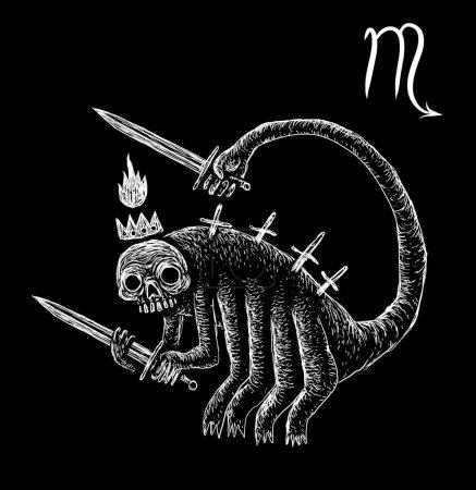 Scorpio zodiacal symbol