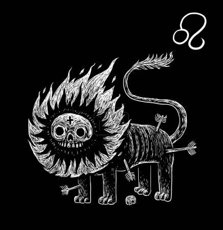 Leo zodiacal symbol