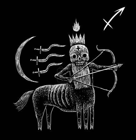 Sagittarius zodiacal symbol