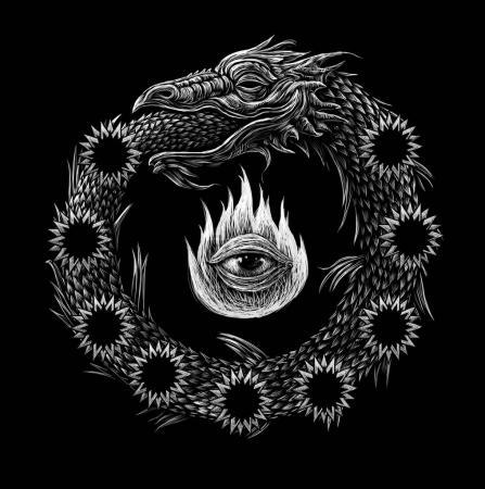 Ouroboros. Ancient mystical sign