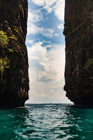 tropical sea with rocks in thailand