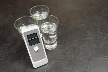 Device for measuring the degree of intoxication.