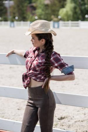 attractive cowgirl in hat