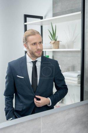handsome blond businessman