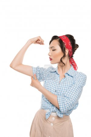 Strong pin up woman