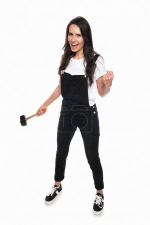 Girl holding hammer
