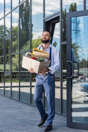 fired happy businessman