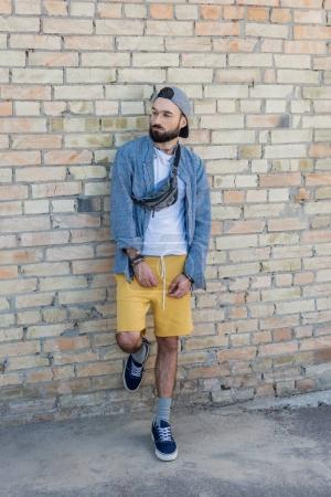 Hipster man on street