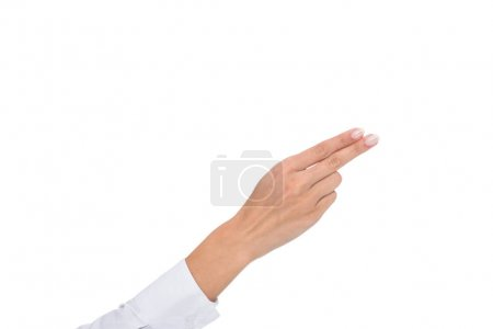 person pointing away