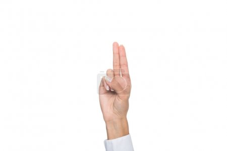 person pointing up with fingers