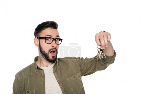 young man with keys