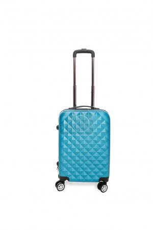 blue suitcase for trips