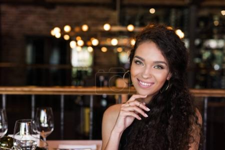 Young woman in restaurant
