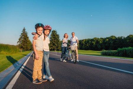 Kids in helmets