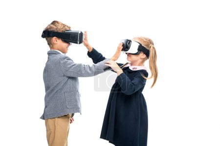 Pupils in VR headsets