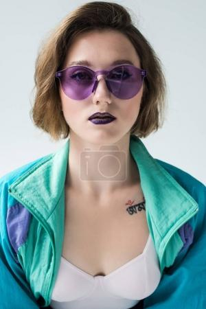 fashionable woman in sunglasses