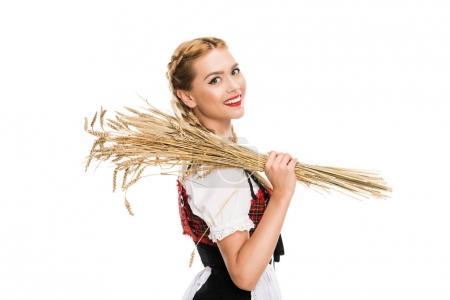 girl with wheat ears
