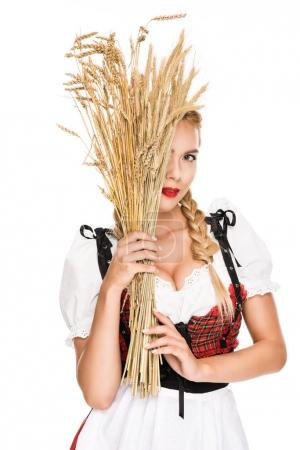 girl with wheat ears