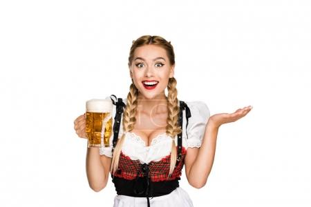 waitress with beer on Oktoberfest