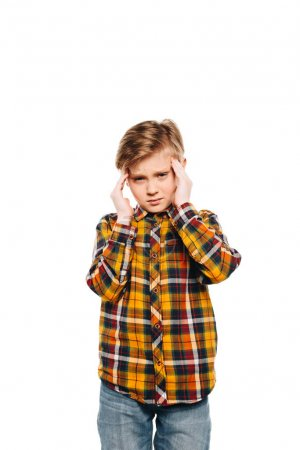 stressed little boy