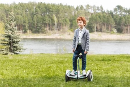child on gyroscooter