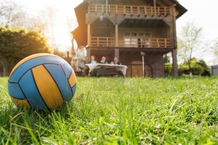 ball on grass