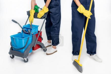 cleaners with cleaning equipment