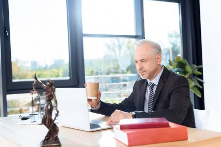 lawyer working with laptop