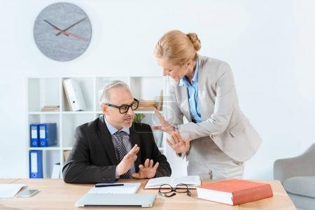 mature lawyers working together