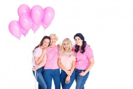 Women with pink balloons