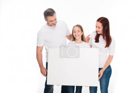family with empty boards