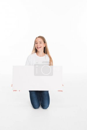 youngster holding empty board