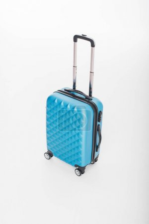 blue luggage bag