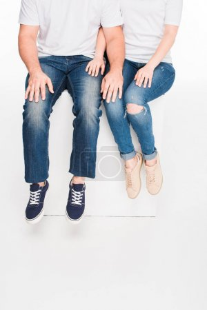 Couple sitting together