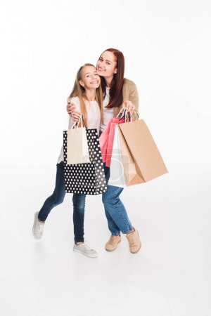 mother and daughter on shopping