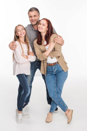 family embracing together