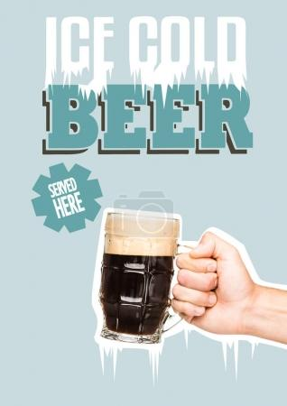 Person with glass of dark beer