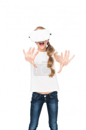 teenager with vr headset