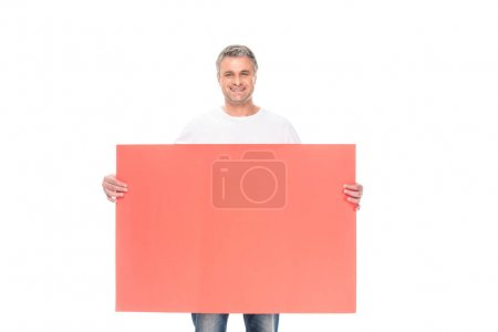 Man with empty board