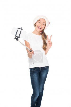 teenager taking selfie on Christmas
